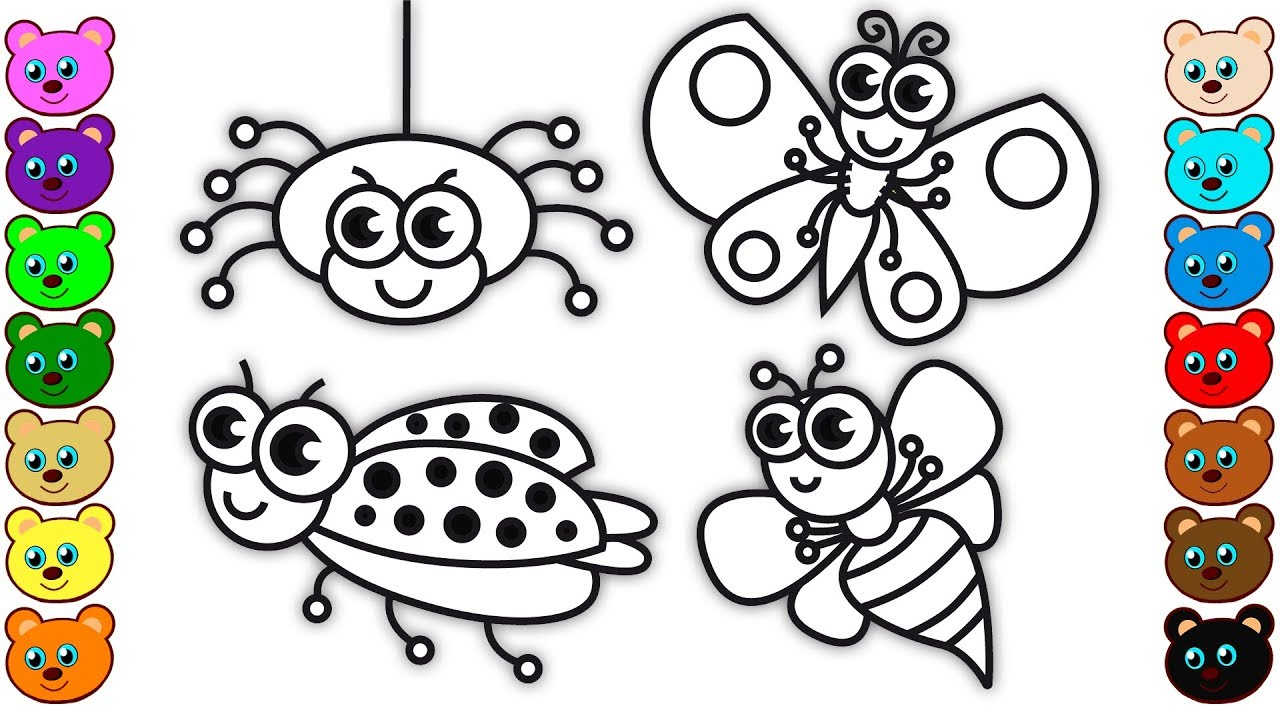 Coloring For Kids With Insects  U0026 Bugs