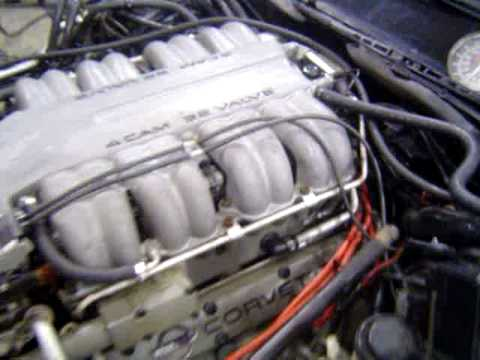 1991 Corvette C4 ZR1 LT5 Engine Running Tested Dyno - YouTube