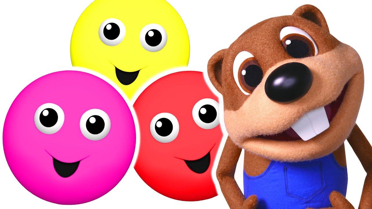 ¡La canción de los Colores!   Canta los Colores & ABCs, Enseña Inglés a niños pequeños Busy Beavers