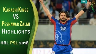 full highlights karachi kings vs peshawar zalmi match 7 25 february hbl psl 2018 psl