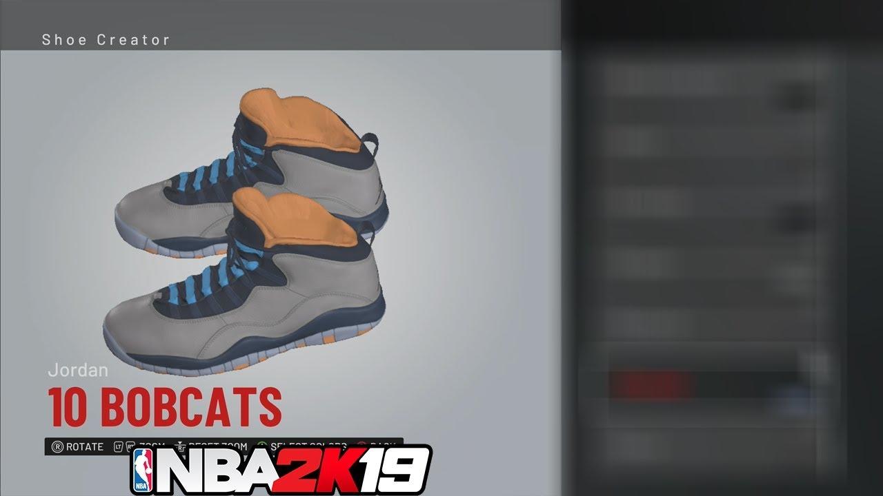 e1e6eb1123e2 NBA 2K19 Shoe Creator Jordan 10 Bobcats   NBA2K19  - YouTube
