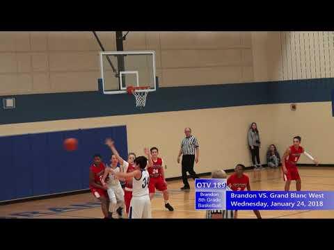 1/24/2018 Brandon 8th Grade Basketball VS  Grand Blanc West