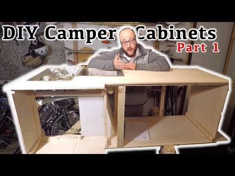 DIY Truck Camper Build:  Making the Galley/Kitchen for a Four Wheel Camper - Part 1