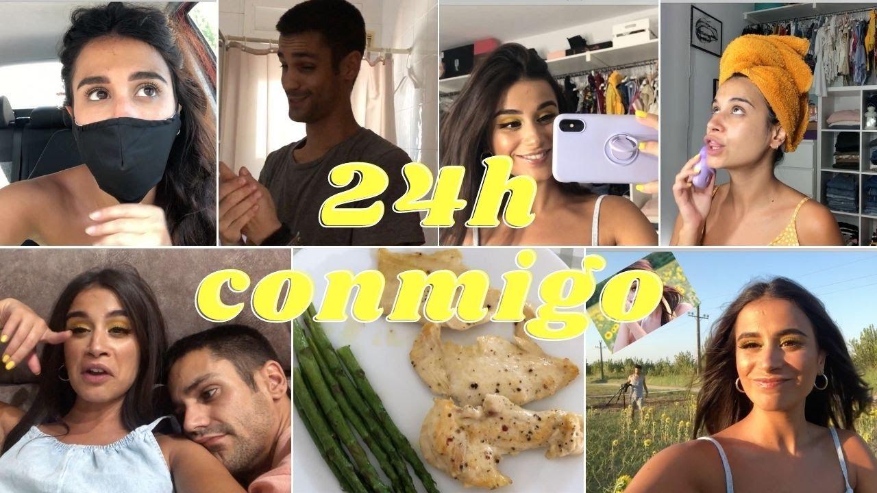 ¡UN DÍA CONMIGO! 24h CON UNA INFLUENCER, ¿qué como en un día? ¿qué ejercicio hago? Sesión de fotos..