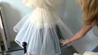 كيفية جعل تحتية ل فستان الزفاف