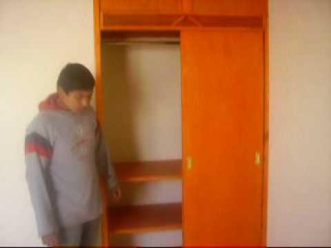 Closet con puertas corredizas youtube for Puertas corredizas