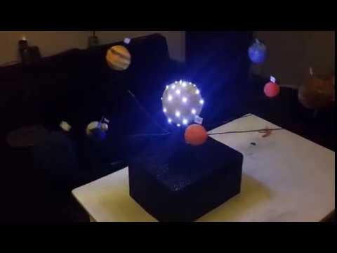 como hacer maqueta sistema solar con movimiento ahora con