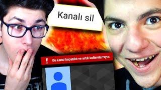 KANALIMI SİLDİ ! - 1 DAKİKA YOUTUBE KONTROL CHALLENGE !