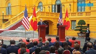 Chủ tịch nước Trần Đại Quang và Tổng thống Mỹ Donald Trump họp báo