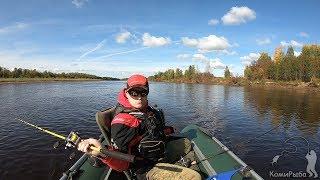Осенний троллинг на реке Сысоле Рыбалка 2019 Pike to trolling