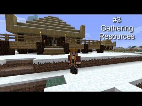 Minecraft FTB New World #3, Gathering Resources