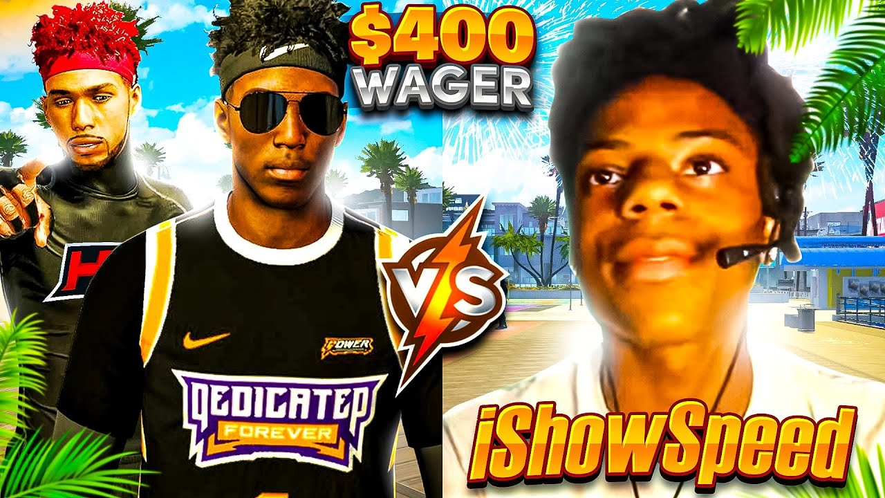iShowSpeed challenged me to a wager w/ 2 LEGENDS for $400 (NBA 2K21)