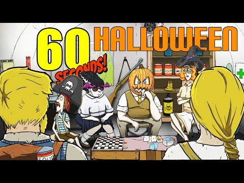 NEW UPDATE! - WINNING the Halloween PUMPKIN MASK Challenge! -  60 Seconds Gameplay