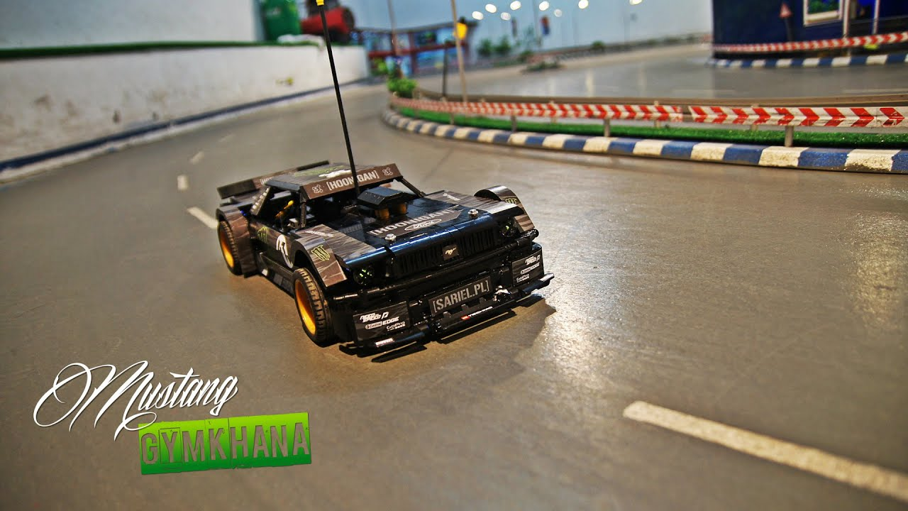lego technic rc ford mustang gymkhana youtube. Black Bedroom Furniture Sets. Home Design Ideas
