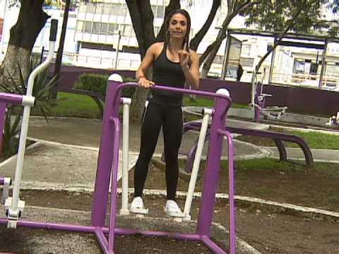 Como entrenar con los aparatos del parque 1ra parte youtube for Para desarrollar un parque ajardinado