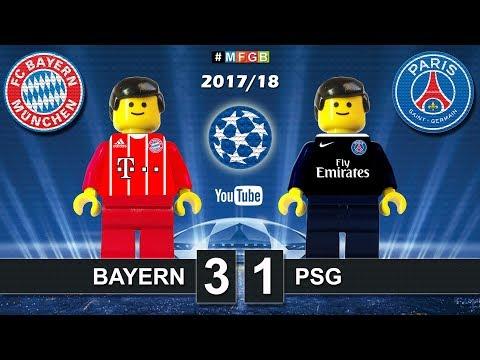 Bayern - PSG Paris Saint-Germain 3-1 • Champions League (05/12/2017) Goals Highlights Lego  2017/18