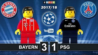 Bayern vs PSG Paris Saint-Germain 3-1 • Champions League 2018 (05/12/2017) Goals Highlights Lego