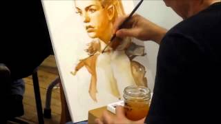 Iain McCaig Painting in Watercolor at IMC 2013