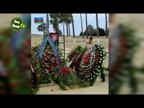 General-mayor Polad Həşimov və polkovnik İlqar Mirzəyevlə mübarək məzarları
