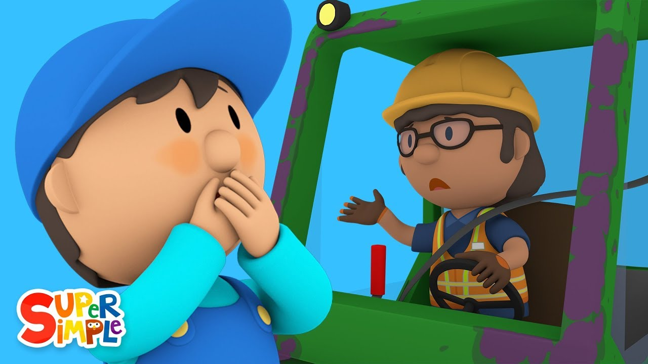Florences Forklift Bumps Into Boltons Bulldozer | Carls Car Wash | Kids Cartoon