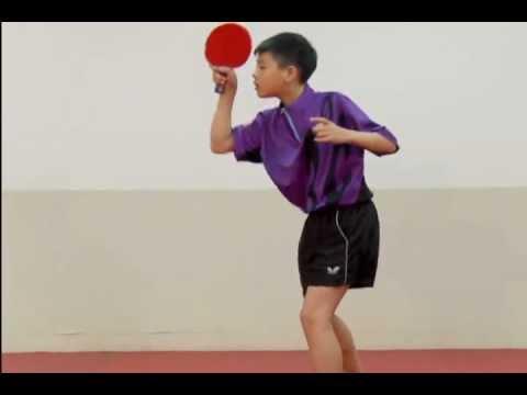 桌球技術教學影片-10正手拉弧圈球(下旋球)-Smartpong電腦全自動乒乓球發球機 - YouTube