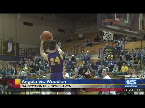 Angola bests Woodlan 55-41 in boys sectionals on 2/27/28