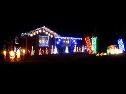 2017 Christmas Light  Show -  Part 1 (Trans-Siberian Orchestra)