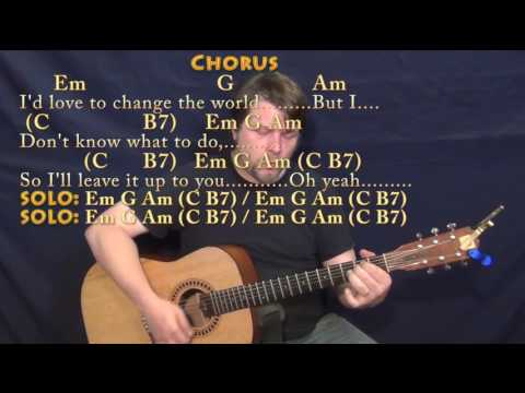 I'd Love To Change the World (Ten Years After) Strum Guitar Cover Lesson with Chords/Lyrics