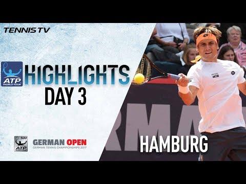 Highlights: Ferrer, Vesely Advance In Hamburg 2017