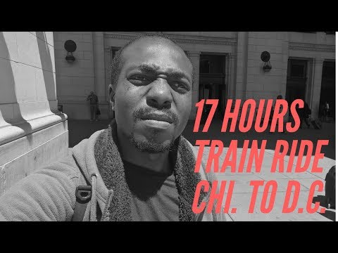 17 HOURS TRAIN ADVENTURE! Chicago to Washington D.C (Vlog #1)