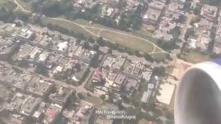 Landing chandigarh airport india amazing sky view mohali stadiums