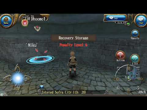 Toram online Look what I found in this recovery storage npc , all my xtals  gone