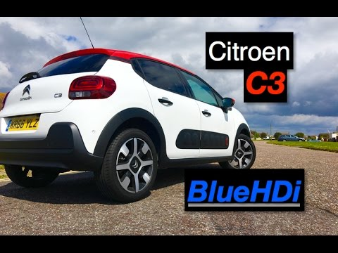 2017 citroen c3 bluehdi diesel review inside lane youtube. Black Bedroom Furniture Sets. Home Design Ideas