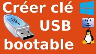 Créer une clé USB bootable sous Linux en français