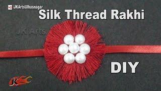DIY Easy Silk Thread Rakhi for Raksha Bandhan | How to make | JK Arts 985