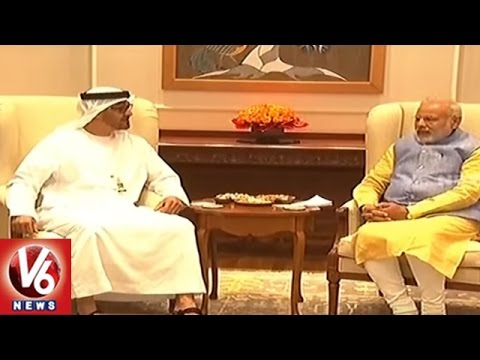 UAE And India Signs Historic Partnership Agreement | 14 MoUs | Delhi | V6 News