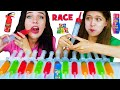 Download Mp3 ASMR Jello Shooter Race Challenge with MOST POPULAR SOUR CANDY