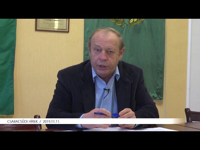 Csabacsűdi Hírek (2019.11.11)