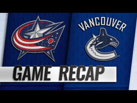 None - Blue Jackets Score Often In Offensive Blowout Over Canucks In Vancouver
