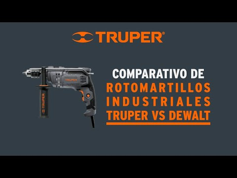 Video comparativo de rotomartillos industriales Truper thumbnail