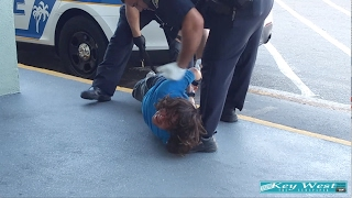 Sleeping Man Hogtied and Arrested