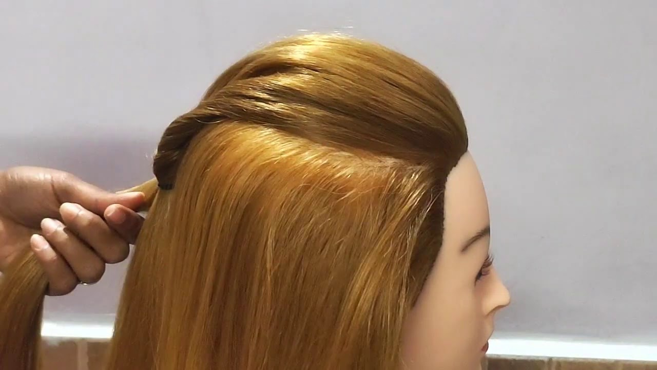 Simple hairstyle for Everyday use //Beautiful hairstyle //Easy medium hair hairstyle