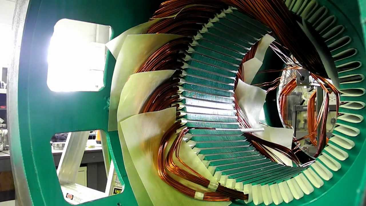 medium resolution of  coil insertion winding a three phase cat generator youtube