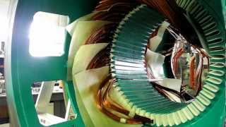 (coil insertion) Winding a three phase cat generator