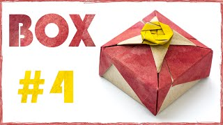 Easy origami Box tutorial. Box for gift. #4
