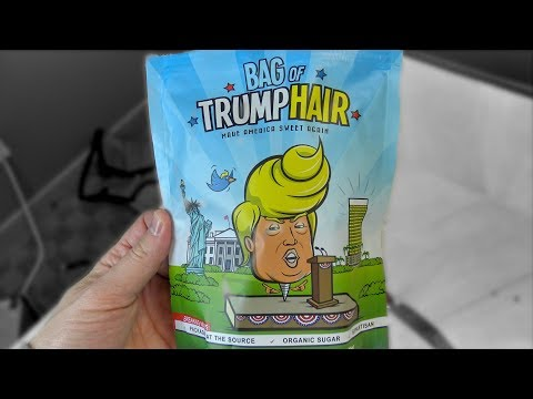 Eating a Bag of Trump's Hair!