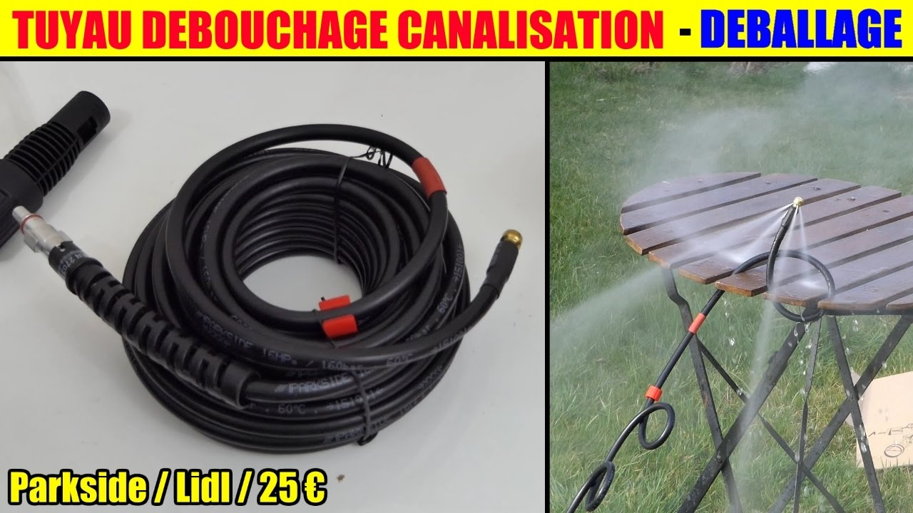 tuyau deboucheur canalisation parkside lidl debouchage wc toilette bouch pipe cleaning set. Black Bedroom Furniture Sets. Home Design Ideas