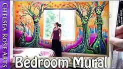 Tree Goddess Bedroom Art Mural in Portland Oregon