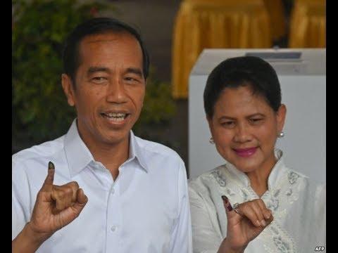 印度尼西亚总统大选 现任总统有望击败前军方将领