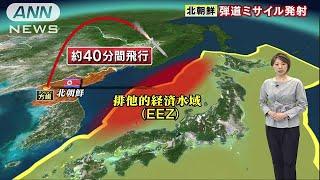 自衛隊が落下地点の捜索を検討 北朝鮮ミサイル発射(17/07/04)